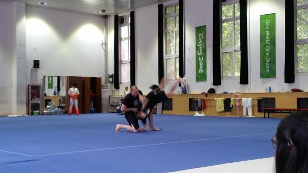 Sensei Adam and Brian Pike demonstrate their skills at the Beijing Sports University