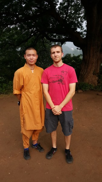 Sensei Adam with Shaolin Monk who showed them 7 star fist