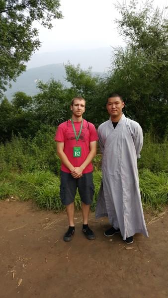 Sensei Adam with the Shaolin Monks Training Coordinator