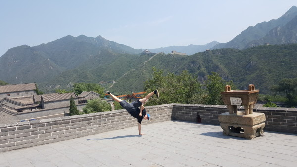Sensei Adam at the Great Wall