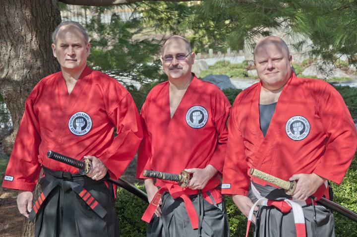 Left to Right: Sensei Lance Long, Soke Dennis Niemier, Training Coordinator, Drew Saltzgaber