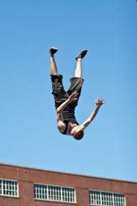 Sensei Adam at Stuntman school